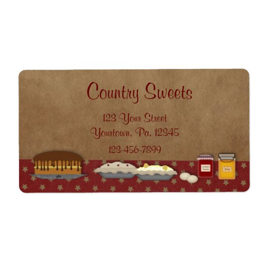 Sweets Business Label