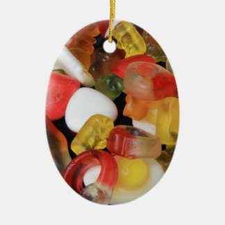 Sweets Candy Ceramic Oval Decoration