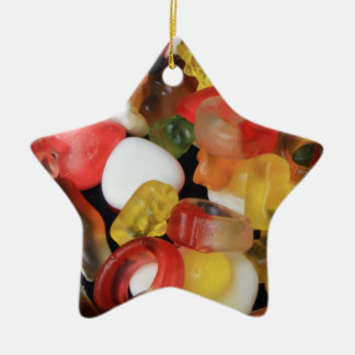 Sweets Candy Ceramic Star Decoration