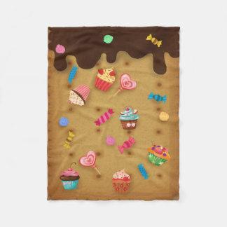 Sweets chocolate cracker candy fleece blanket