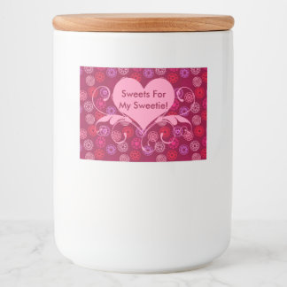 Sweets For My Sweetie! | Valentine Hearts Food Label