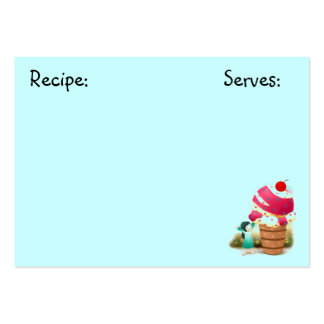 Sweets Recipe Card Business Card Templates