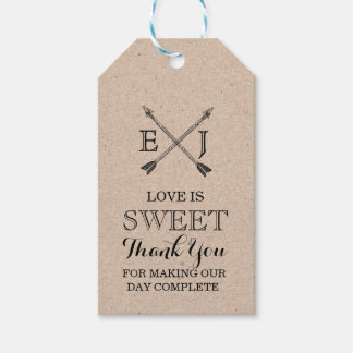 Sweets Thank You Tag Kraft Paper Wedding Favors