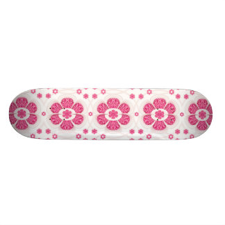 Sweety Pink Floral Pattern Skate Boards