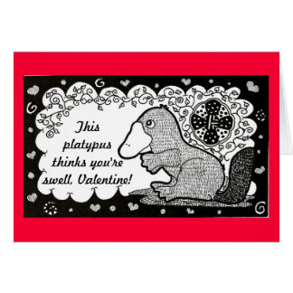 Swell Platypus Valentine s Day Card