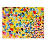 SWEPT AWAY 2 - Vibrant Colourful Rainbow Mango Art Postcards