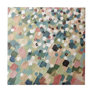 SWEPT AWAY 4 - Lovely Shabby Chic Soft Pink Ocean Small Square Tile