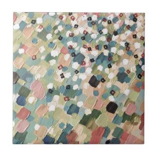 SWEPT AWAY 4 - Lovely Shabby Chic Soft Pink Ocean Ceramic Tile