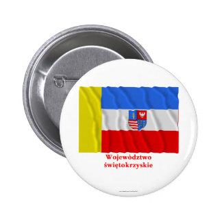 Świętokrzyskie - Holy Cross waving flag with name 6 Cm Round Badge