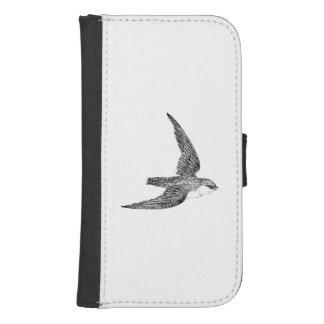 Swift Bird Illustration Galaxy S4 Wallets