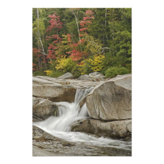 Swift River cascading through rocks, White Photograph