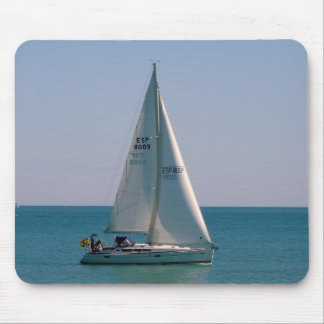 Swift-sailing boat in the Mediterranean Mouse Mat