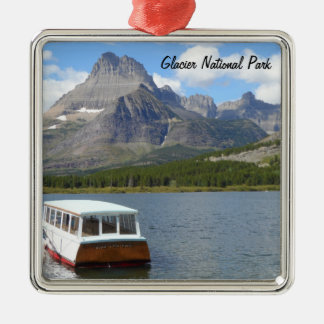 Swiftcurrent Lake - Glacier National Park Silver-Colored Square Decoration