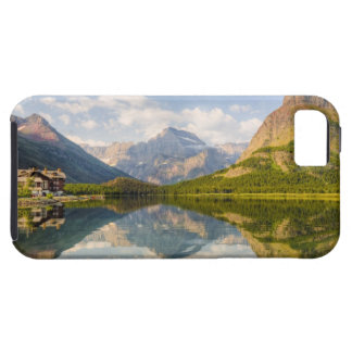 Swiftcurrent Lake with Many Glacier hotel and iPhone 5 Cases