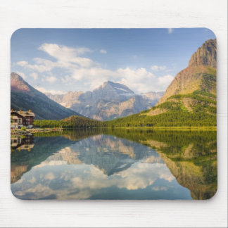 Swiftcurrent Lake with Many Glacier hotel and Mouse Pad