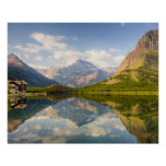 Swiftcurrent Lake with Many Glacier hotel and Poster