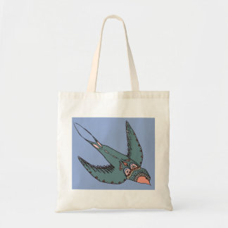 Swiftly Swooping Swallows Bag Blue