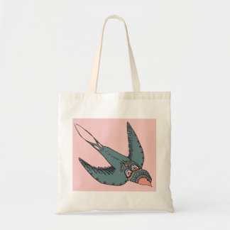 Swiftly Swooping Swallows Bag Pink