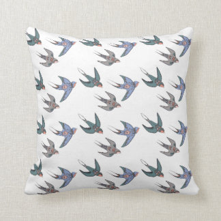 Swiftly Swooping Swallows Cushion