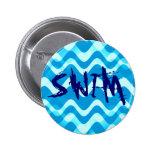 SWIM 6 CM ROUND BADGE