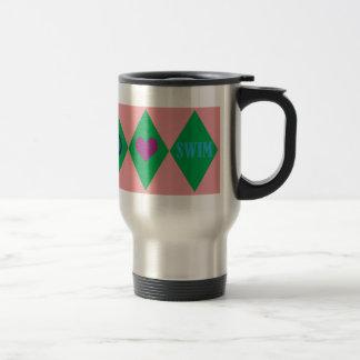 Swim Argyle Stainless Steel Travel Mug