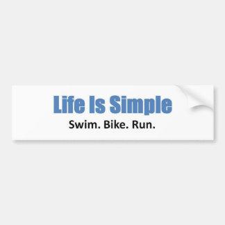 Swim, Bike, Run Bumper Sticker