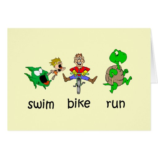 Swim Bike Run Greeting Card