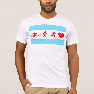 Swim Bike Run Chicago T-Shirt