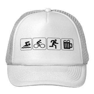 Swim Bike Run Drink Mesh Hats