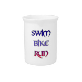 Swim Bike Run Drink Pitchers