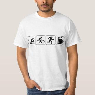 Swim Bike Run Drink Tee Shirt