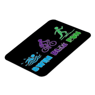 Swim Bike Run Ironman Triathlon Race Triathlete Magnet