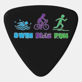 Swim Bike Run Ironman Triathlon Race Triathlete Plectrum