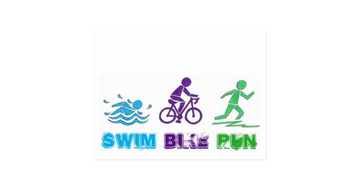 Swim Bike Run Ironman Triathlon Race Triathlete Swim Bike Run