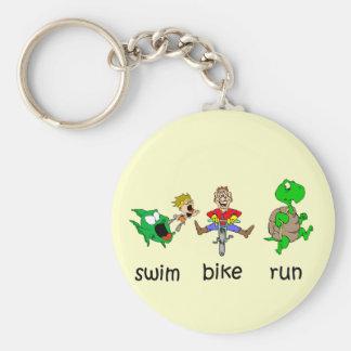 Swim Bike Run Key Ring