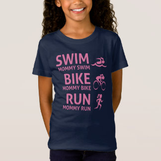 Swim Bike Run Mommy - Triathlon T-Shirt