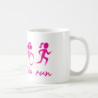 Swim Bike Run Tri Girl Basic White Mug