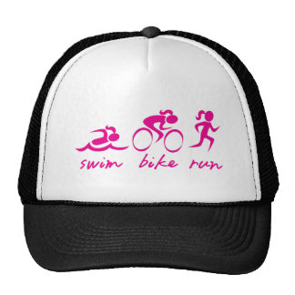 Swim Bike Run Tri Girl Cap