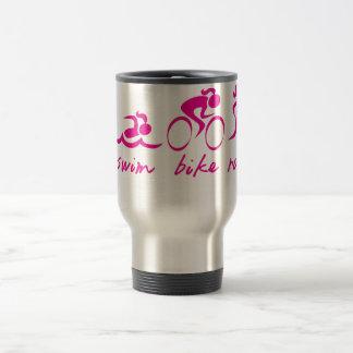 Swim Bike Run Tri Girl Coffee Mugs