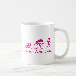 Swim Bike Run Tri Girl Mugs