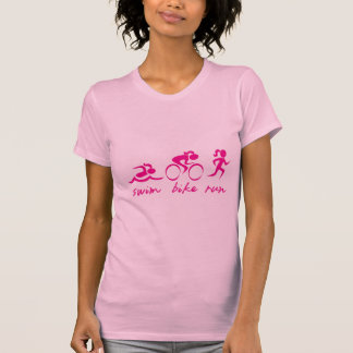 Swim Bike Run Tri Girl T-Shirt