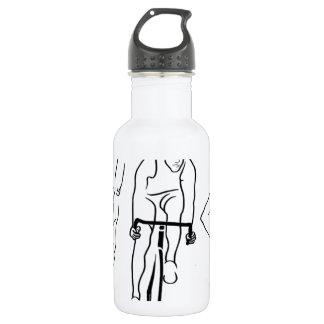 Swim Bike Run Triathlon 532 Ml Water Bottle