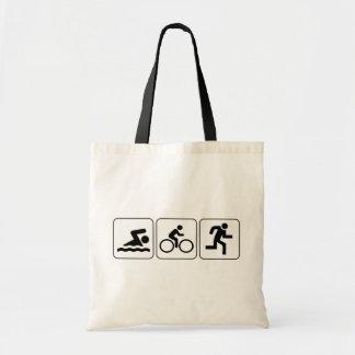 Swim Bike Run - Triathlon Canvas Bags