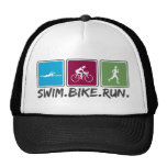 swim bike run (triathlon) cap