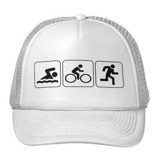 Swim, Bike, Run - Triathlon Hats