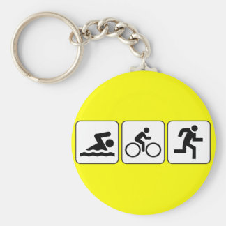 Swim, Bike, Run - Triathlon Key Ring