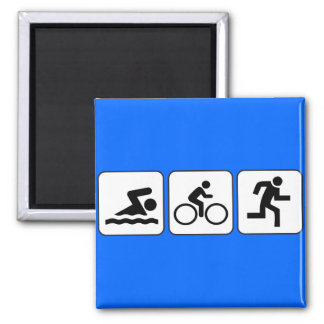 Swim, Bike, Run - Triathlon Magnet