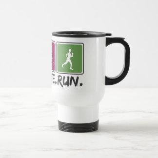 swim bike run (triathlon) coffee mugs