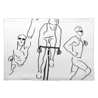 Swim Bike Run Triathlon Placemat