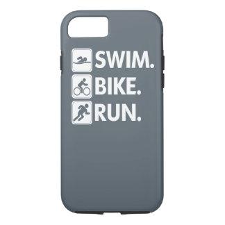Swim. Bike. Run...Triathlon Pride. iPhone 8/7 Case
